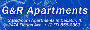 G&R Apartments: 2 bedroom apartments in Decatur, IL. 2474 Florian Ave. (217) 855-6363
